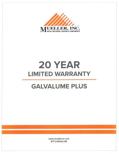 Warranty information - Mueller, Inc