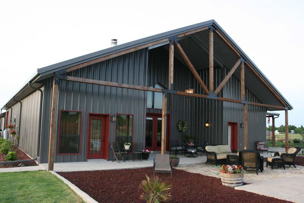 grey metal siding on metal building home
